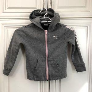 PUMA logo zip hoodie